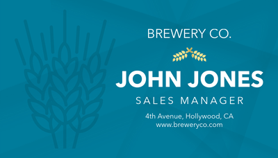 Brewery Business Card